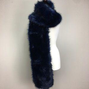 ASOS Midnight Blue Faux Fur Dramatic Scarf